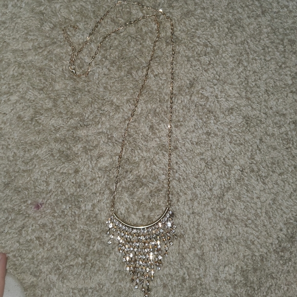 Gold blingy statement necklace